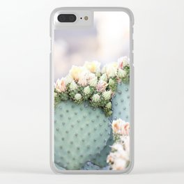 Spring Cactus Blossoms Clear iPhone Case