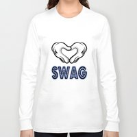 swag Long Sleeve T-shirts featuring SWAG by Gold Blood