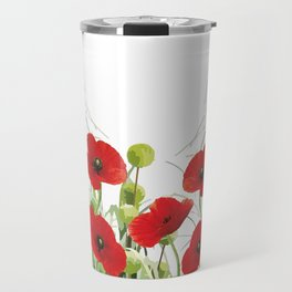 Poppy Mohn Flower Field Travel Mug