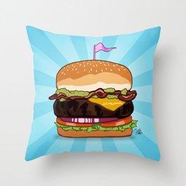 Bacon Cheeseburger Tummy Throw Pillow