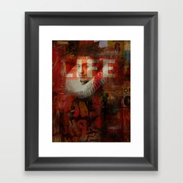 Watch his life Framed Art Print