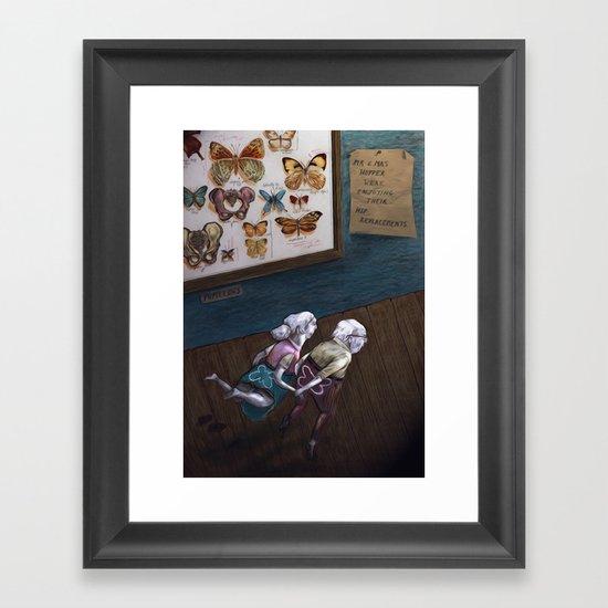 Mr & Mrs Hopper were enjoying their hip replacements. Framed Art Print