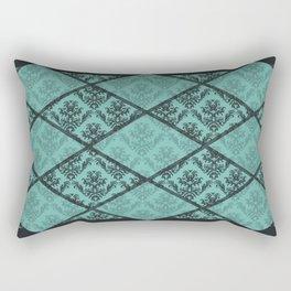 Turquoise Shadow Pattern Rectangular Pillow