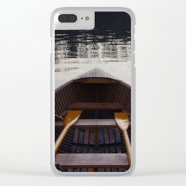 No where to row Clear iPhone Case