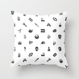 Spa and Beauty Pattern Nshn Throw Pillow