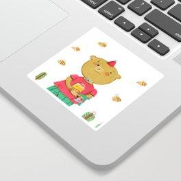 Honey Bear, Busy Bees Sticker