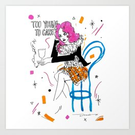 too young Art Print