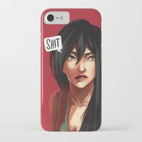 shit iPhone & iPod Cases featuring SHIT by Mica Karaman