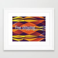 free shipping Framed Art Prints featuring Free shipping by Miguel Á. Núñez I.