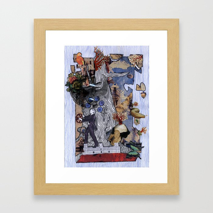 Baobab dreams Framed Art Print