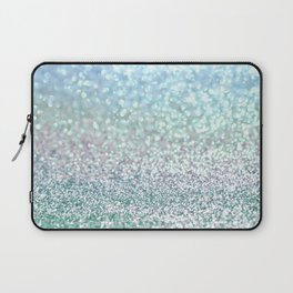 Blue Mist Snowfall Laptop Sleeve
