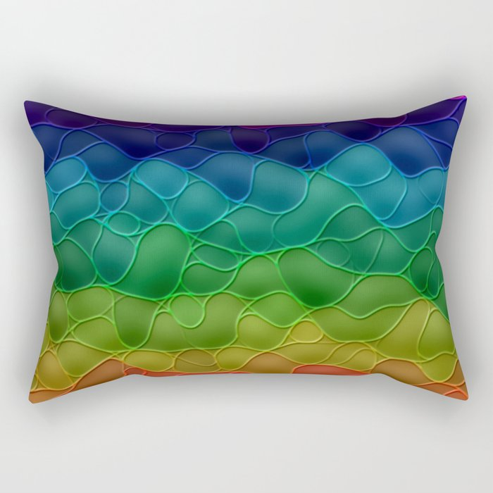 Rainbow abstraction Rectangular Pillow