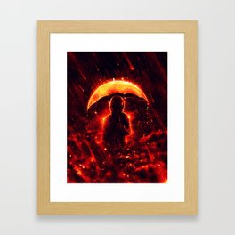 Cosmic Rain Framed Art Print