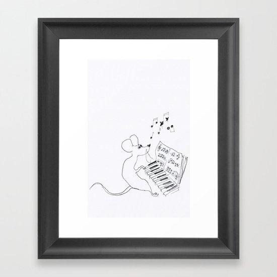 mouse pianist Framed Art Print