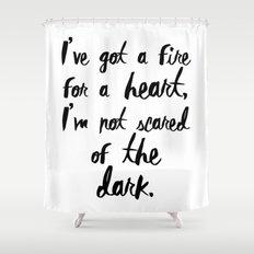 One Direction // Drag me down lyrics Shower Curtain