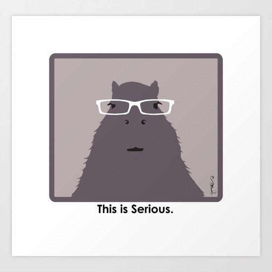 Professor Capybara I Art Print