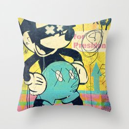 Tricky Mickey (Painted Version) Throw Pillow