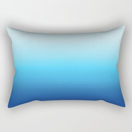 Dip Dye Ombre (turquoise) Rectangular Pillow