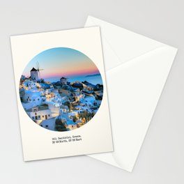 001: Santorini, Greece. Stationery Cards