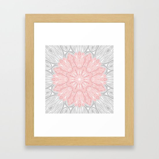 MANDALA IN GREY AND PINK by magic-dreams
