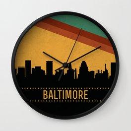 Baltimore Skyline Wall Clock