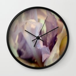 Pale Lilac Iris Abstract Wall Clock