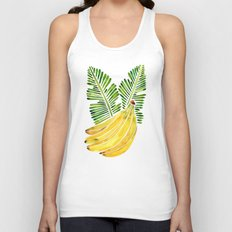 Banana Bunch – Green Leaves Unisex Tank Top