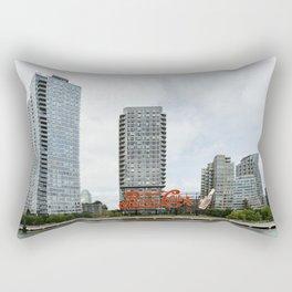 Cola sign in New York City Rectangular Pillow