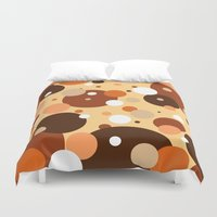 cookies Duvet Covers featuring Gammy's Cookies by Naked N Pieces
