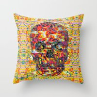 ashton irwin Throw Pillows featuring Ticket to Ride (1R) by Wayne Edson Bryan