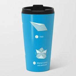 Step-by-step Origami Travel Mug