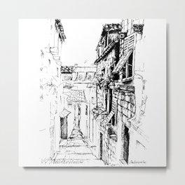 Dubrovnik Old Town Street Metal Print