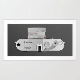 The dream Camera. Leica Art Print