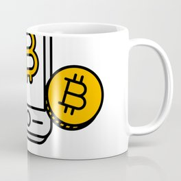 Pay With Bitcoin (Mobile Payments) Icon Coffee Mug