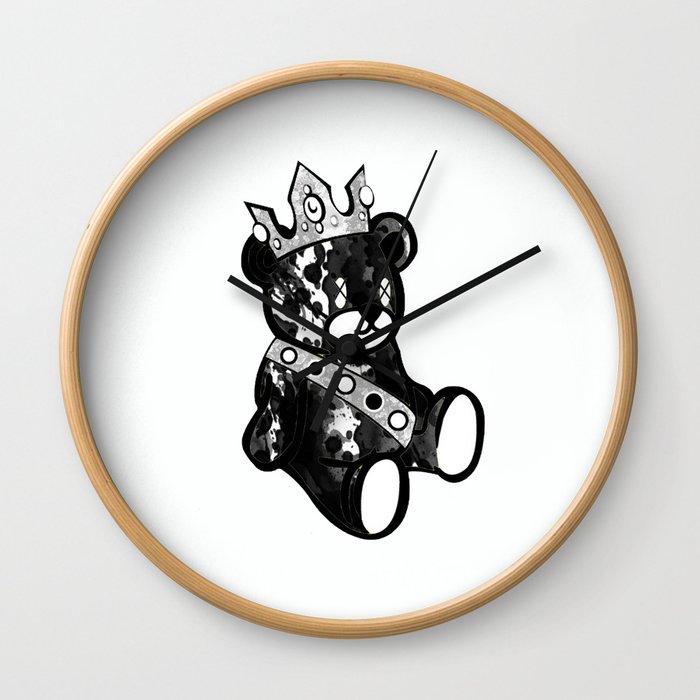 Bear King Splash Wall Clock