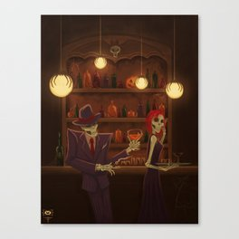 In the Afterlife....Halloween Jazz Canvas Print