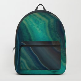 Lake Like Teal & Brown Agate Backpack