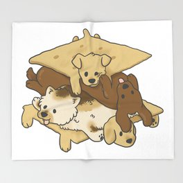 S'mores Puppies Throw Blanket
