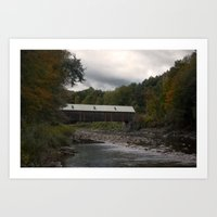 vermont Art Prints featuring Vermont by memoryradio