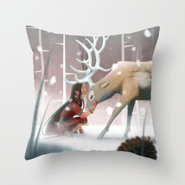 Soft winter Throw Pillow