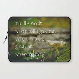 Where witches, ghosts and wolves appear - Quote - Photography #Society6 Laptop Sleeve
