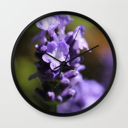 Lavender purple flower plant Wall Clock