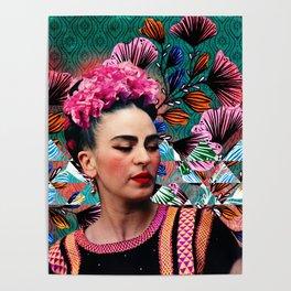 Flowery Frida Poster