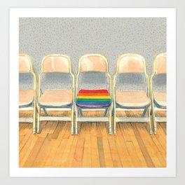 Rainbow Chair Art Print