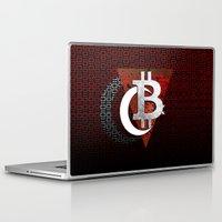 turkey Laptop & iPad Skins featuring bitcoin turkey by seb mcnulty