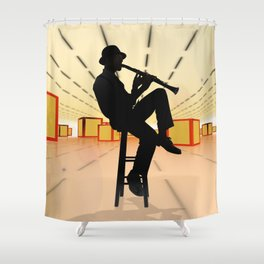 Cool Jazz 3 Shower Curtain