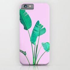Pink Banana Palm Slim Case iPhone 6s