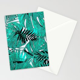 Tropical leaves background texture Stationery Cards