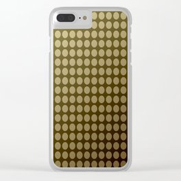Olive green polka dot pattern . Clear iPhone Case