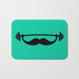 Minimal Funny Fitness Mustache / Beard Bath Mat